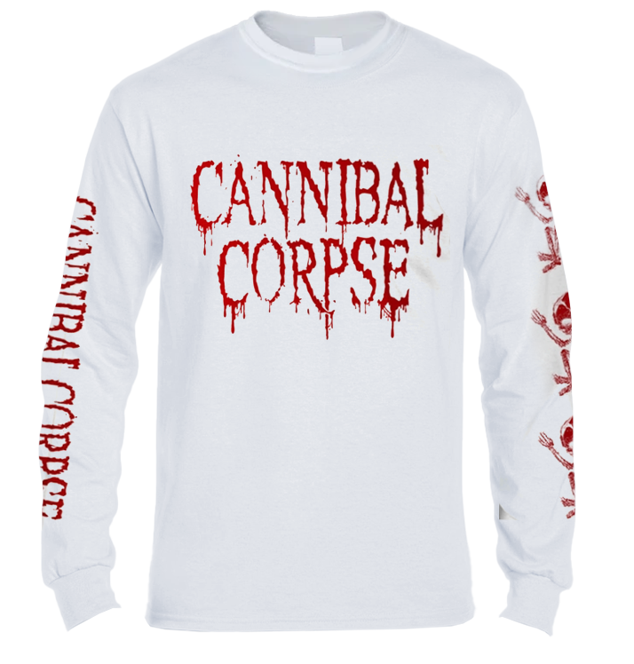 CANNIBAL CORPSE - 'Butchered At Birth - White' Long Sleeve