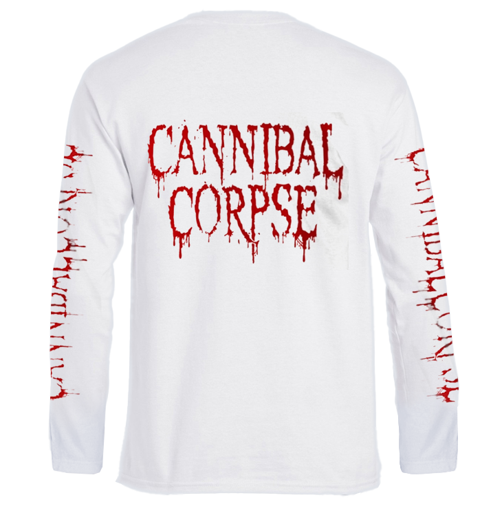 CANNIBAL CORPSE - 'Pile Of Skulls - White' Long Sleeve