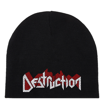 DESTRUCTION - White and Red 'Logo' Beanie