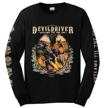 DEVILDRIVER - 'Outlaws Til The End' Long Sleeve