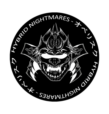 HYBRID NIGHTMARES - 'Oberisuku No Samurai' Black Patch