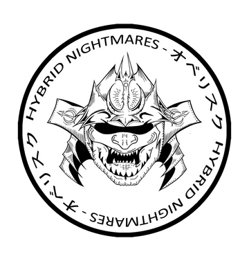 HYBRID NIGHTMARES - 'Oberisuku No Samurai' White Patch