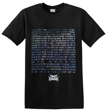 HYBRID NIGHTMARES - 'The First Age Lyric' T-Shirt