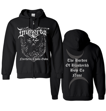 IMMORTAL - 'Northern Chaos Gods' Zip-Up Hoodie