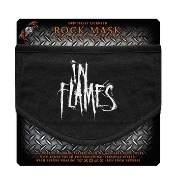 IN FLAMES - 'Scratched Logo' Face Mask