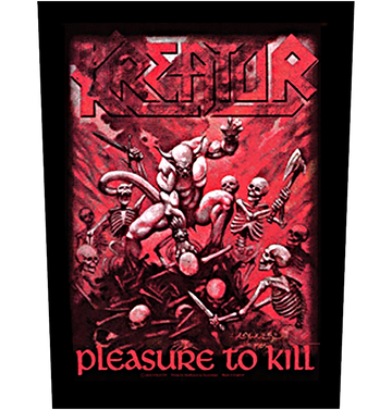 KREATOR - 'Pleasure To Kill' Back Patch