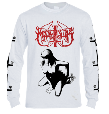 MARDUK - 'Fuck Me Jesus' White Long Sleeve