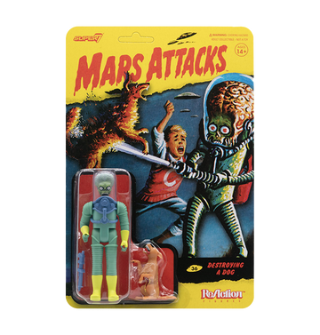 MARS ATTACKS - 'Mars Alien 2 Gun + Burning Dog' ReAction Figure