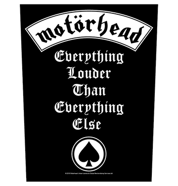 MOTÖRHEAD - 'Everything Louder' Back Patch