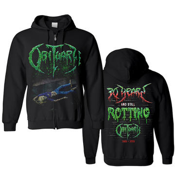 OBITUARY - '30 Years' Zip-Up Hoodie