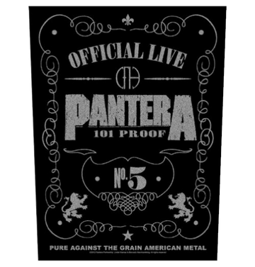 PANTERA - '101% Proof' Back Patch
