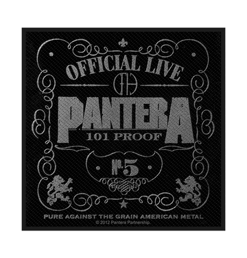 PANTERA - 'Official Live 101% Proof' Patch
