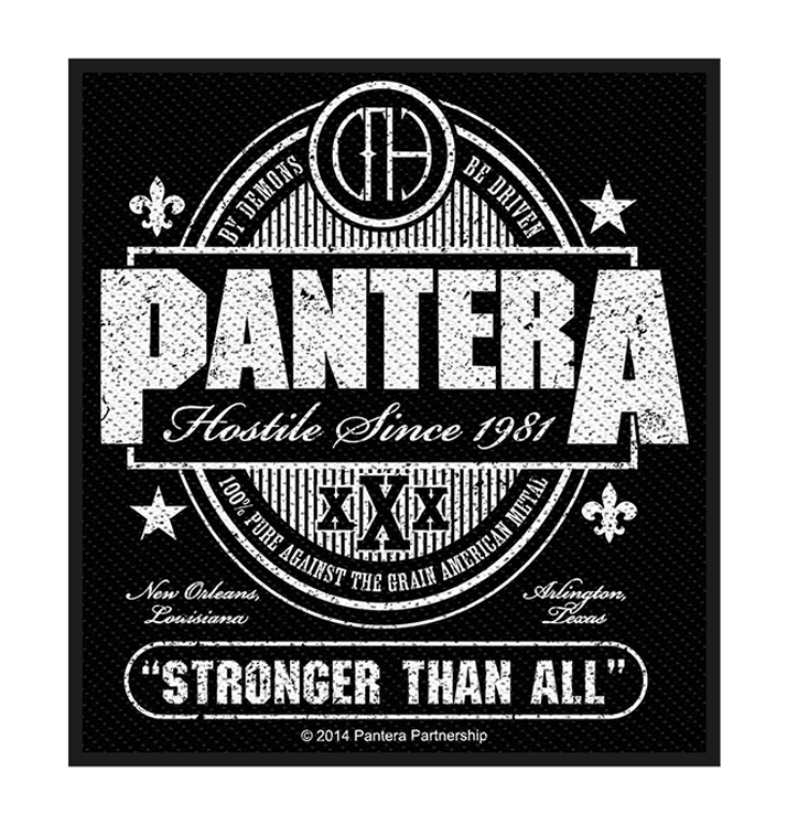 PANTERA - 'Stronger Than All' Patch