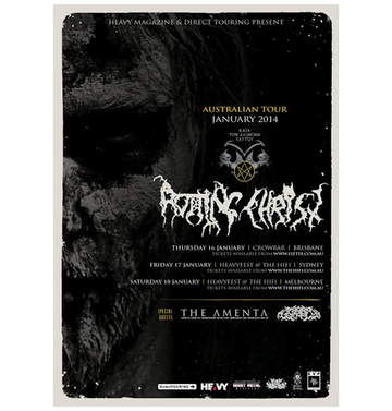 ROTTING CHRIST - 'Australian Tour 2014' A3 Poster