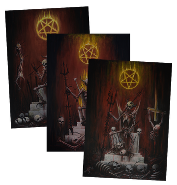 ROK - 'Burning Satan' Art Print Set