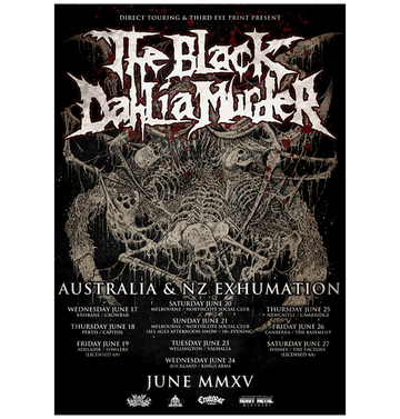 THE BLACK DAHLIA MURDER - 'Australian Tour 2015' A3 Poster