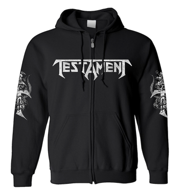 TESTAMENT - 'Pitchfork Horns' Zip-Up Hoodie