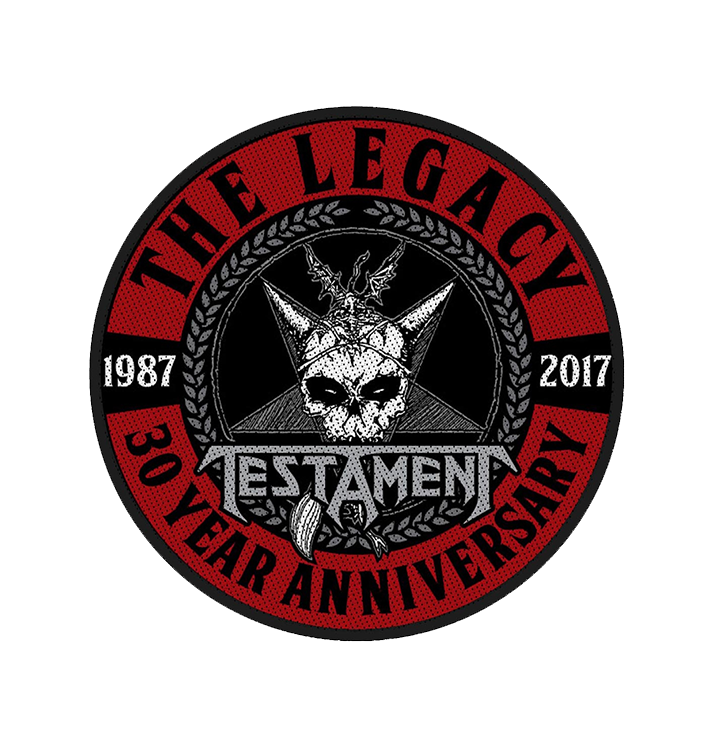 TESTAMENT - 'The Legacy 30 Year Anniversary' Patch