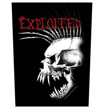 THE EXPLOITED - 'Bastard Skull' Back Patch