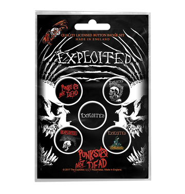 THE EXPLOITED - 'Punks Not Dead' Badge Set