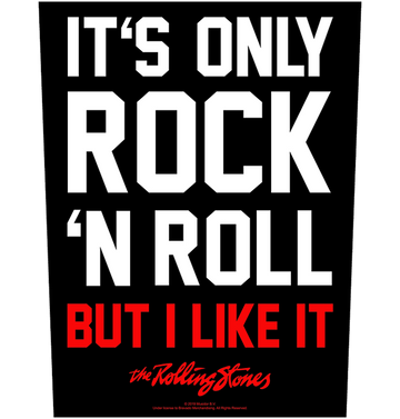 THE ROLLING STONES - 'It's Only Rock 'n' Roll' Back Patch