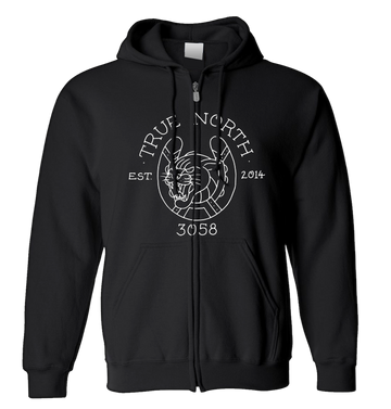 TRUE NORTH - 'Steve French' Zip-Up Hoodie