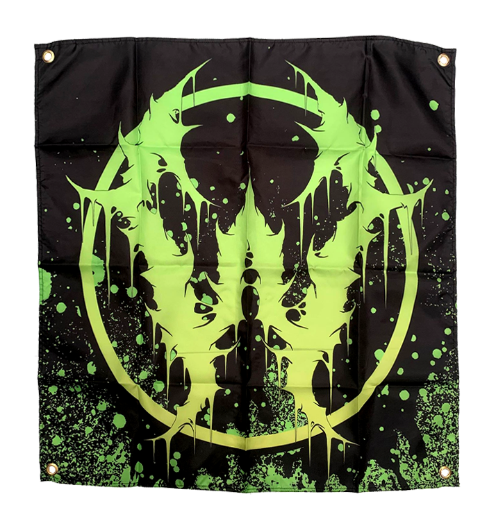 WHORETOPSY - 'Green Emblem' Flag