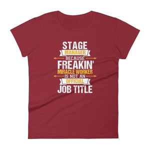 Because Miracle Worker Is Not A Job Title Women's T-Shirt - Happy Drama Shirts
