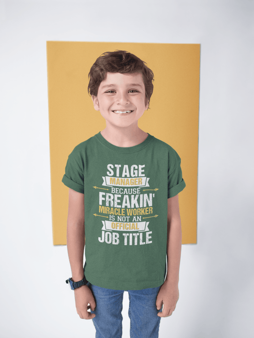 Because Miracle Worker Is Not A Job Title Youth T-Shirt - Happy Drama Shirts