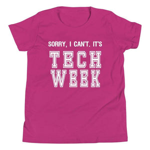 Sorry I Can't It's Tech Week Youth T-Shirt - Happy Drama Shirts