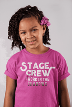 Load image into Gallery viewer, Stage Crew I Work In The Shadows Youth T-Shirt - Happy Drama Shirts
