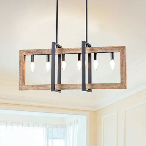 Maxax  6 - Light Lantern Square / Rectangle Chandelier#19062-6