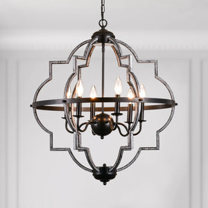 Maxax 6 - Light Candle Style Geometric Chandelier #19063-6