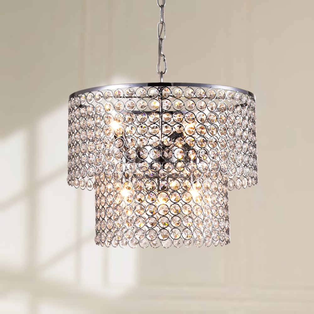 Maxax 6 - Light Lantern Drum Crystal Chandelier #19073-6CH