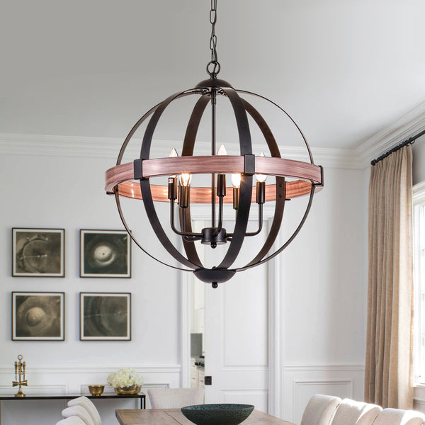 Maxax 5 - Light Statement Globe Chandelier #19076-5