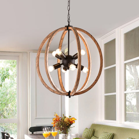 Maxax 8 - Light Sputnik Globe Chandelier #19098-8BY