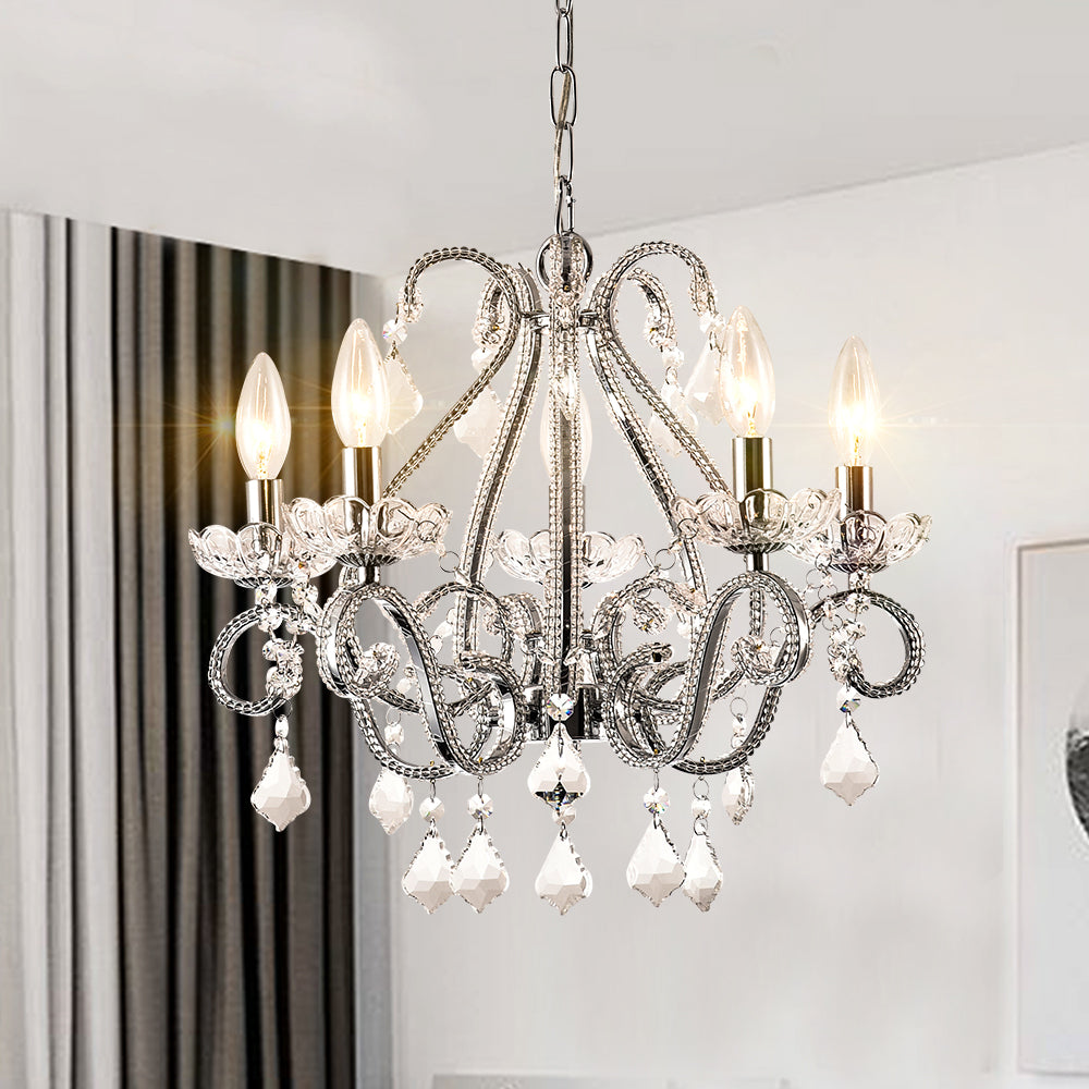 Maxax 5 - Light Chandelier with Crystal Accents #19048