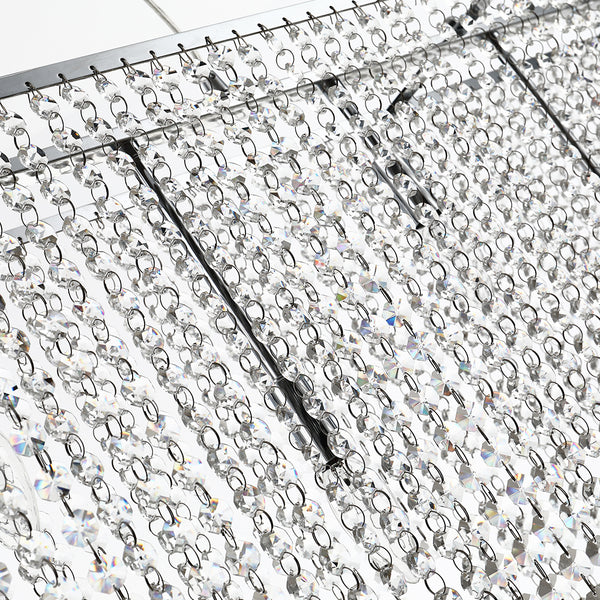 Maxax 6 - Light Unique Tiered Rectangle Crystal Chandelier #19057-6