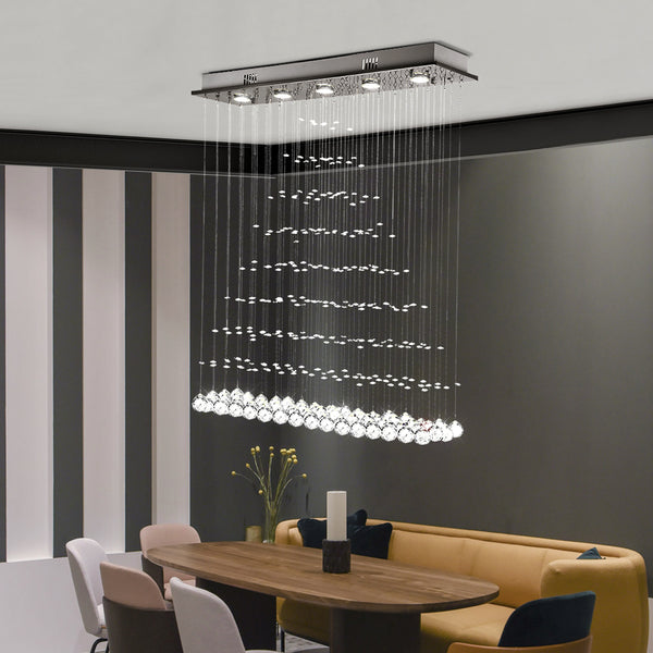 Maxax Luxury Modern Triangle Raindrop Crystal Chandelier (Small)#16001