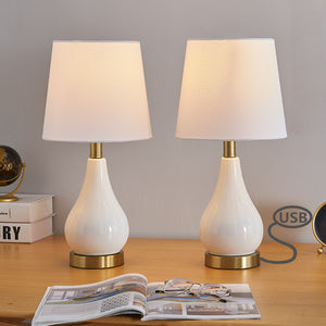 "Maxax 18"" Table Lamp Set (Set of 2)(Built-in USB Port)#T01"