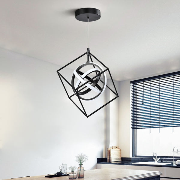 Maxax 3- Light Square 18W LED Chandelier #JF2024-P4