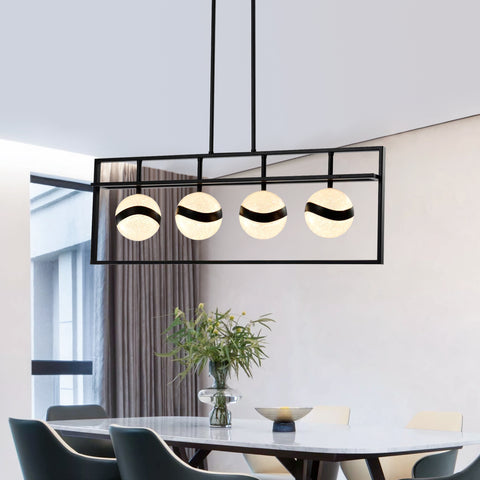 Maxax 4-light LED Rectangle Chandelier #JF2027-P4