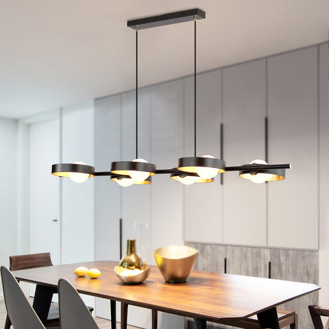 Maxax 6 - Light Unique Modern Kitchen Island Linear Chandelier #OM18-6