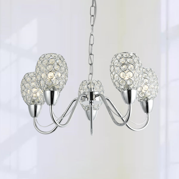 Maxax 5 - Light Shaded Crystal Chandelier #OM21-5