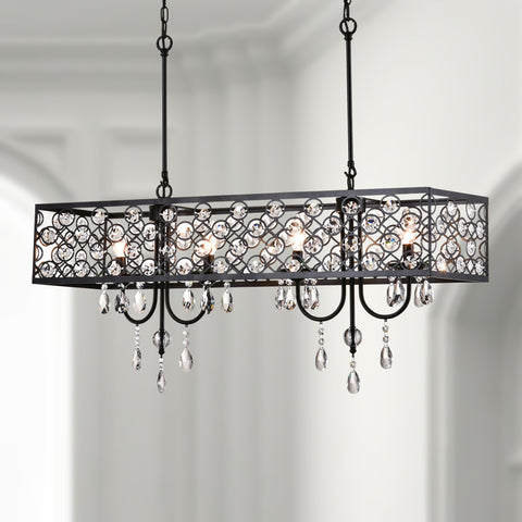 Maxax 4 - Light Unique Rectangle Crystal Chandelier#SU-5-4BK