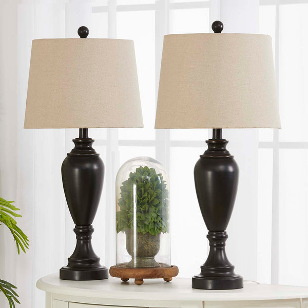 "Maxax 27"" Black Table Lamp Set#T23"