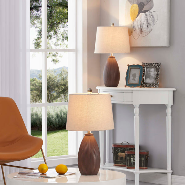 "Maxax 22.25"" Bedside Table Lamp Set (Set of 2)#T24"