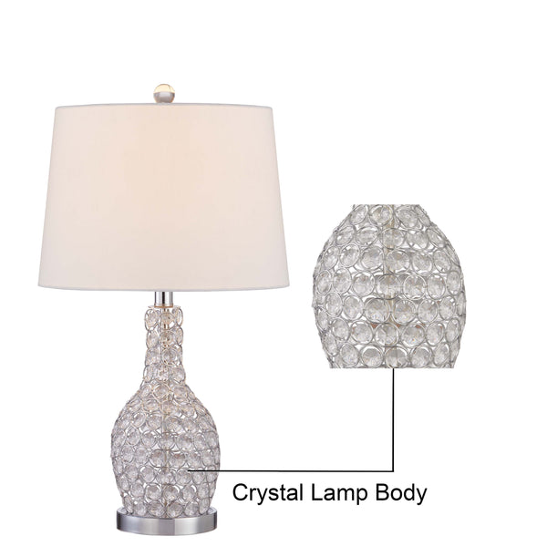 "Maxax 23.5"" Chrome Table Lamp Set (Set of 2) #T33-CH"