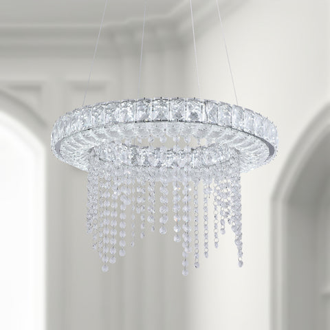Maxax 1 - Light Unique / Statement LED Crystal Pendant #YX-07