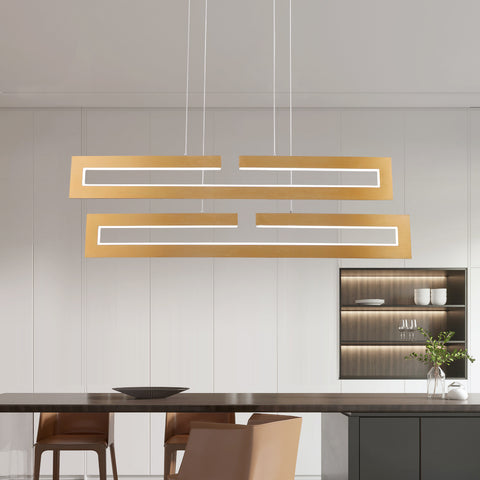 Maxax 2 - Light Unique Rectangle LED Chandelier #YX-20